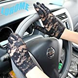 LOHOME(TM) Summer Sun Block UV Protection Outdoor Skidproof Lace Driving Evening Gloves For Ladies (Black)