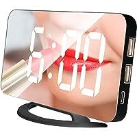Duotar Relógio espelho LED Mini relógio de mesa digital despertador com função Snooze 3 Brilho ajustável Auto-Adapt…