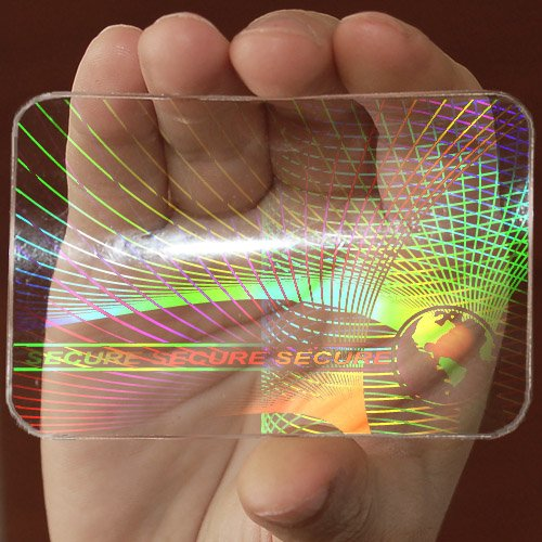 6 ID Cards Security Hologram Overlay Stickers with Micro Secure Technology SHID-09