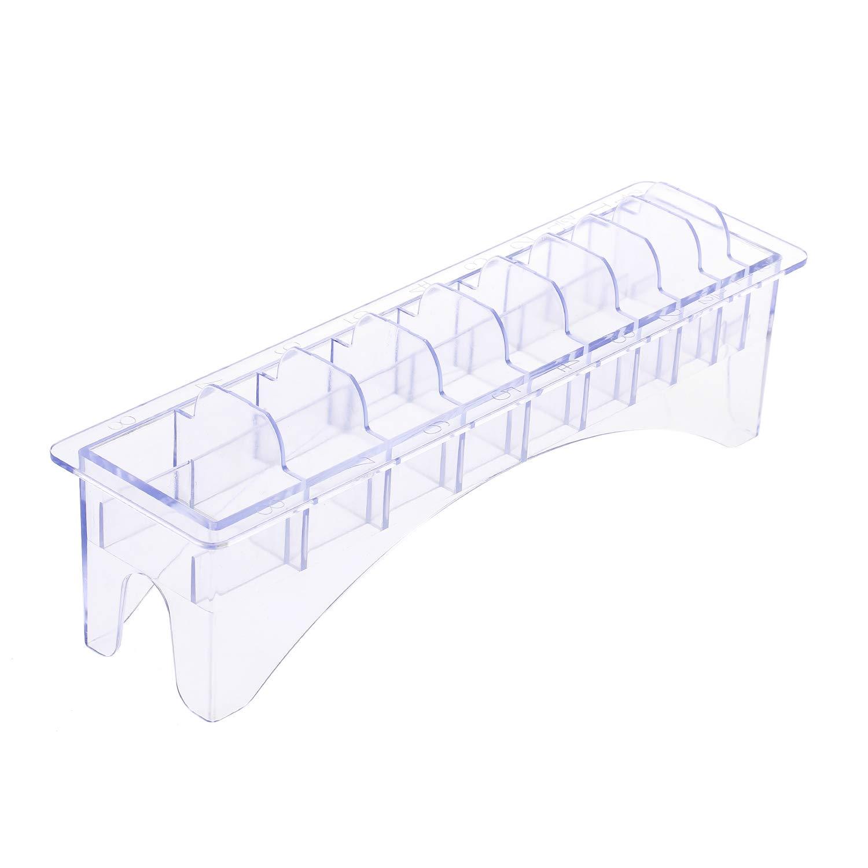 Anself Rectangular Plastic Blade Organizer for 10 Blades Storage Case Rack Clipper Comb Holder