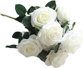 Y-BOA Bouquet 6//10 T/êtes Fleur Artificiel Pivoine Rose Fleur D/écoration Mariage Maison En Soie Fuchsia