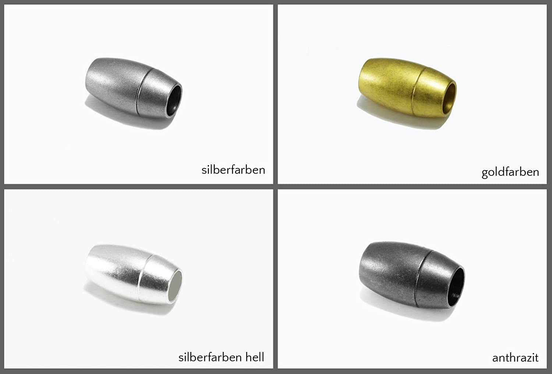 Edelstahl Magnetverschluss matt  Ø 4 mm 16 x 6 mm Schmuck herstellen armband