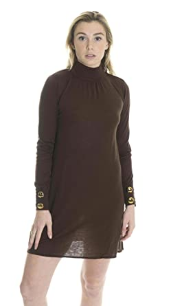 ea3af0fa0c80 Sweetees Women s Dilys Jeweled Turtleneck Sweater Dress In Chocolate ...
