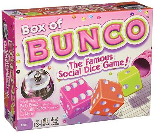 Dice Game Bunco - Continuum Games - Box of Bunco Game, Multicolored Dice