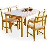 ダイニング ダイニングテーブル 5点セット 4人掛け 幅120 テーブル ナチュラル ホワイト