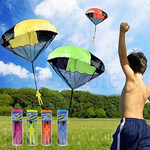 VIPASNAM-Kids Children Tangle Free Toy Hand Throwing Parachute Kite Outdoor Play Game HM (Costco Sunbrella)
