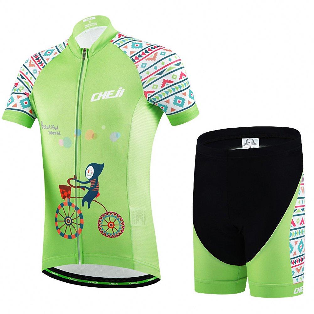 Ateid Maillot de Cyclisme Manches Courtes Cuissard Enfant