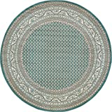 A2Z Rug Traditional Caen Collection Rugs Teal 8′ -Feet-Round Area rug Review