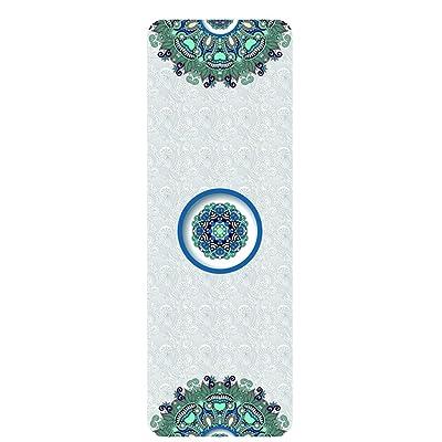 HJHY® Tapis de yoga, caoutchouc naturel Tapis de yoga 5mm impression Tapis de yoga antidérapant débutant Tapis de fitness yoga Couverture Bonne élasticité