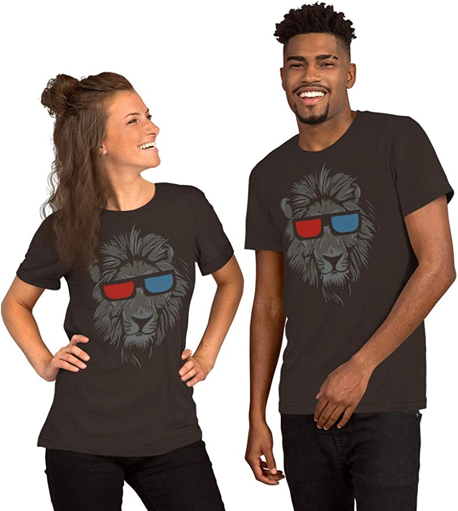 Animal Lion Bella Canvas 3001 Unisex Short Sleeve Jersey T-Shirt with Tear Away Label