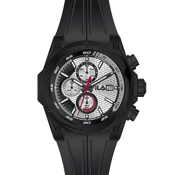 Fila Reloj hombre RELOJ CRONÓGRAFO 38 - 823 - 006 Acero Inoxidable/Negro Nuevo: Amazon.es: Relojes