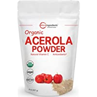 Pure Acerola Cherry Powder Organic, Natural and Organic Vitamin C Powder (Immune Vitamin) for Immune System Booster, 8…