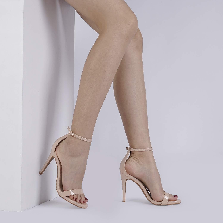 DREAM PAIRS Womens Karrie High Stiletto Pump Heel Sandals
