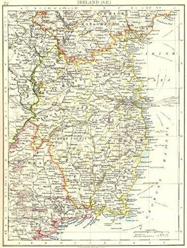 Map Of Ireland Longford.Amazon Com Leinster Meath Dublin Longford Wexford Wicklow Se