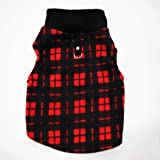 PIXRIY Dog Sweater, Soft Fleece Vest with Leash Ring Pullover Jacket Winter Pet Dog Clothes for Puppy Small Dogs Cat Teddy Ch