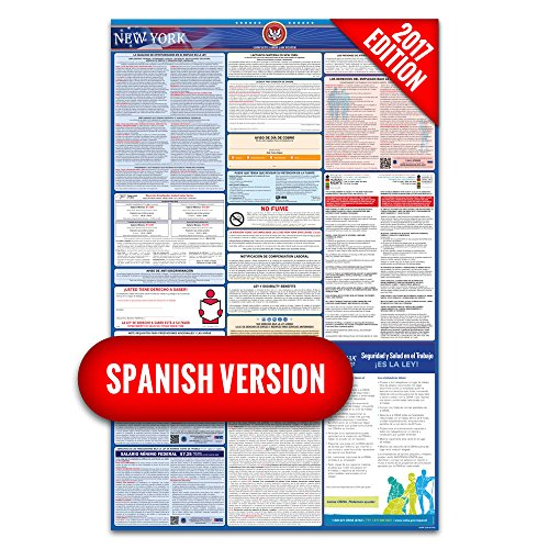 2017 New York (Spanish) Labor Law Poster – State & Federal Compliant – Laminated