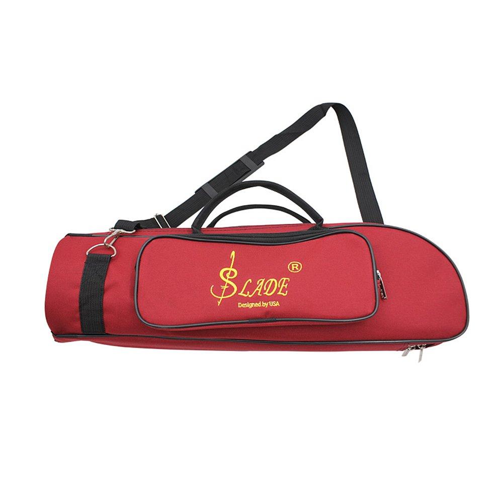 Andoer Water-resistant 600D Trumpet Gig Bag Oxford Cloth Adjustable Single Shoulder Strap Pocket 5mm Cotton Padded MUS267611