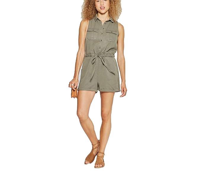 00a595909 Amazon.com: Universal Thread Women's Utility Romper -Olive-: Clothing