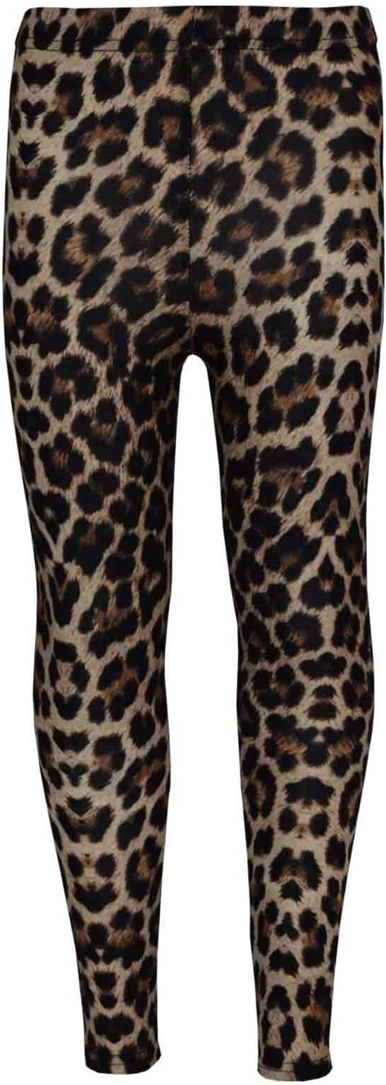 Girls Age 3-4 Leopard Print Leggins And Top
