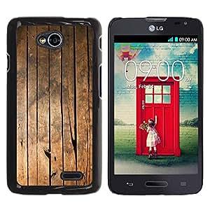 Be Good Phone Accessory // Dura Cáscara cubierta Protectora Caso Carcasa Funda de Protección para LG Optimus L70 / LS620 / D325 / MS323 // Ship Deck Floor Vertical Lines Grain