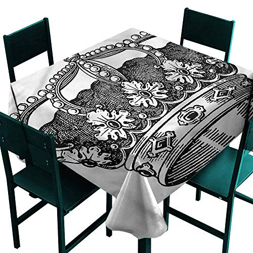 - DONEECKL Dust-Proof Tablecloth Queen Antique Royal Monarch Indoor Outdoor Camping Picnic W63 xL63