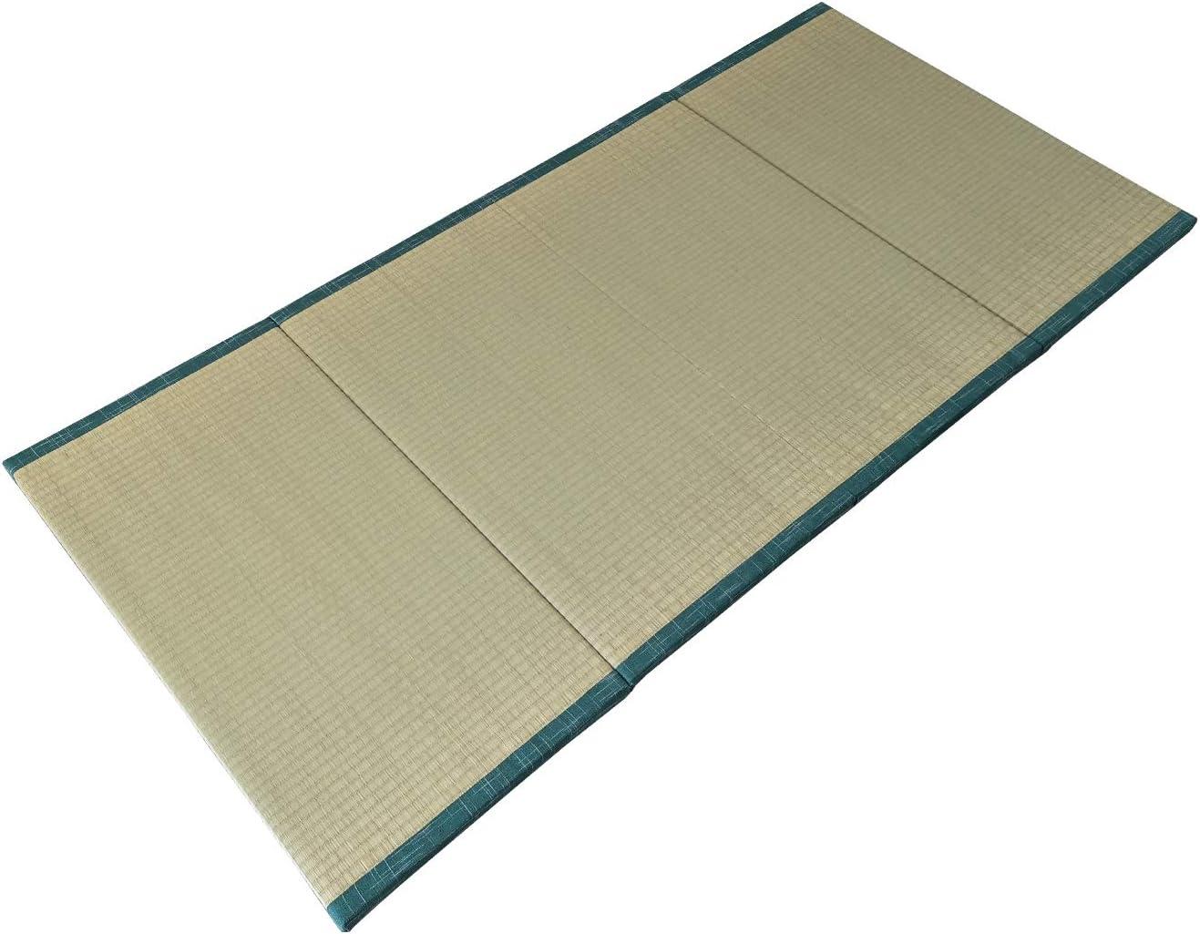 "MustMat Tatami Mat Japanese Traditional Igusa Rush Grass Tatami Mattress Folds Easily 35.4""x78.7""x1.2"""