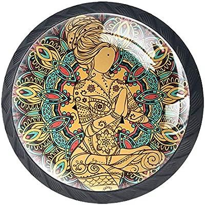 Yoga meditazione doro Mango de 4 cajones para armario ...