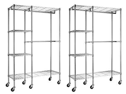 Sandusky Lee ezgr4818-rw3 acero ropa Rack, 2 estantes ajustables, 2 ajustable media
