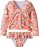Seafolly Kids Baby Girl's Forget Me Not Ballet Rashie Set (Toddler/Little Kids) Blossom Pink 5