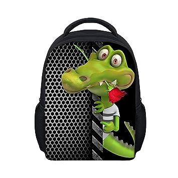 3cf077323054 Moolecole Unisex 3D Animals Print Daypack Childrens Backpack Kids Rucksack  Toddler Boys Girls Nursery School Bag Crocodile  Amazon.co.uk  Luggage