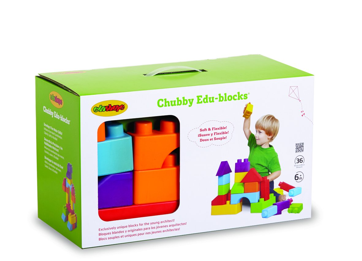 Edushape Chubby Edu-Blocks, 36 Piece