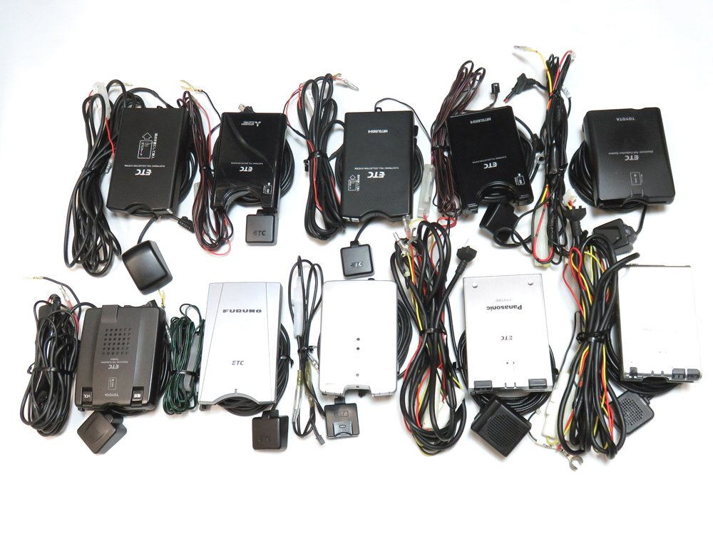 ETC車載器10台セット【中古リユース品/通電通波検査済】アンテナ分離型 B07BJH9JR6