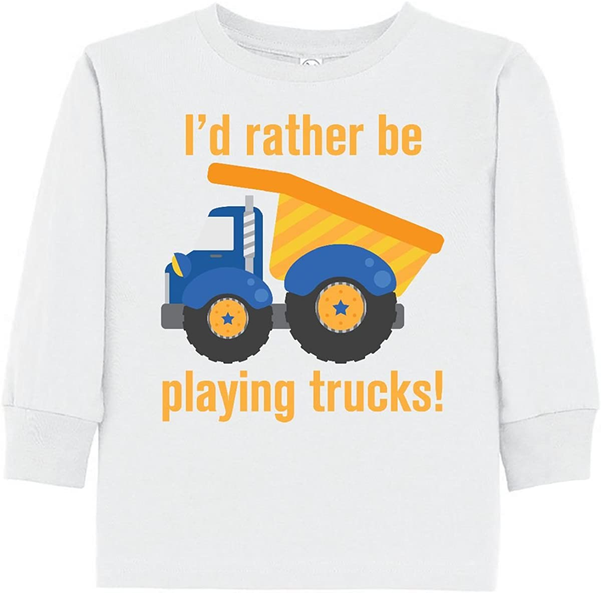 inktastic Rather Be Playing Trucks Toddler Long Sleeve T-Shirt 1f998