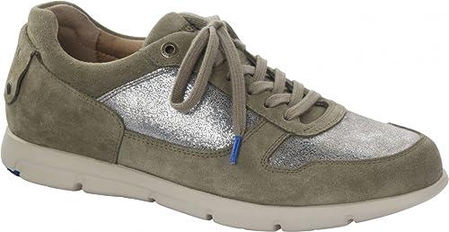Sneaker Birkenstock Cincinnati Suède Khaki Schmal Damen