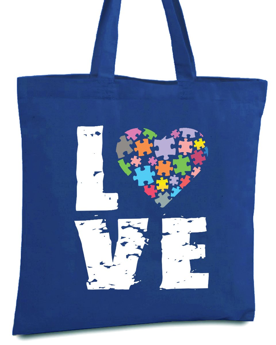 Awkward Styles Love Puzzle Autism Bag Tote Autism Bags for Women Autism Gifts Royal One Size