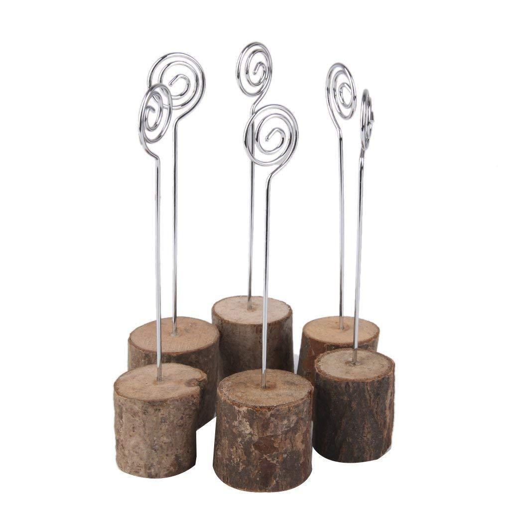 Vektenxi Durable Memo Clip Holz Basis Clip Memo Halter Kreative Schreibtisch Memo Clip f/ür Hochzeit B/üro Heimgebrauch 6 ST/ÜCKE