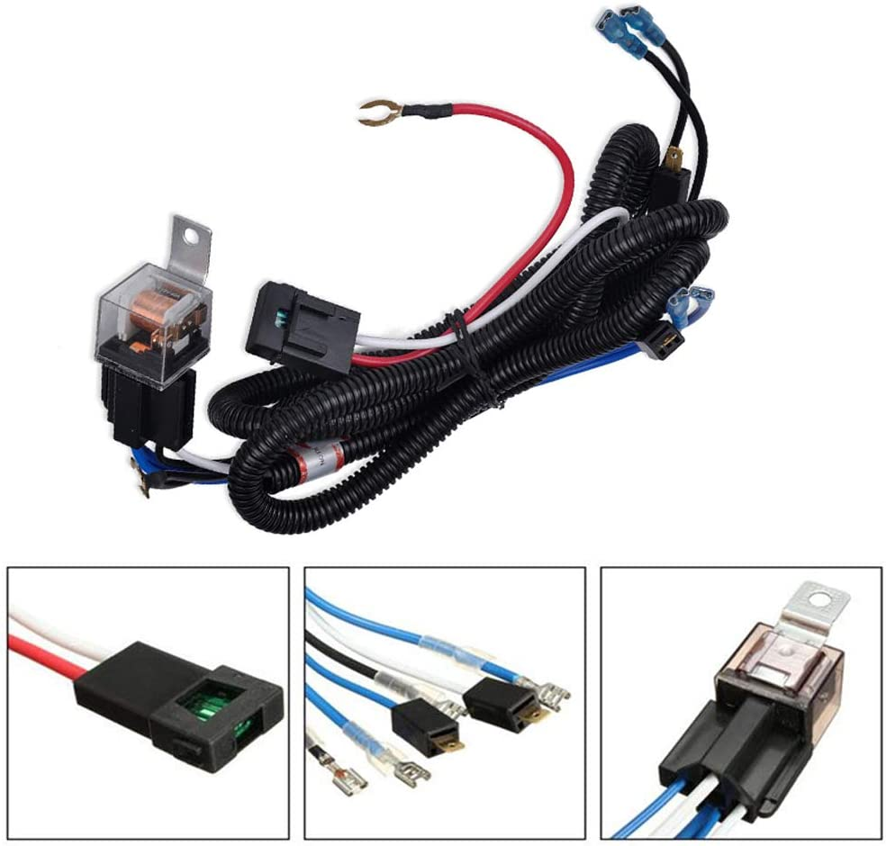 Horns are not Included! AXECO 12V Horn Wiring Harness Relay Kit for Car Truck Grille Mount Blast Tone Horns