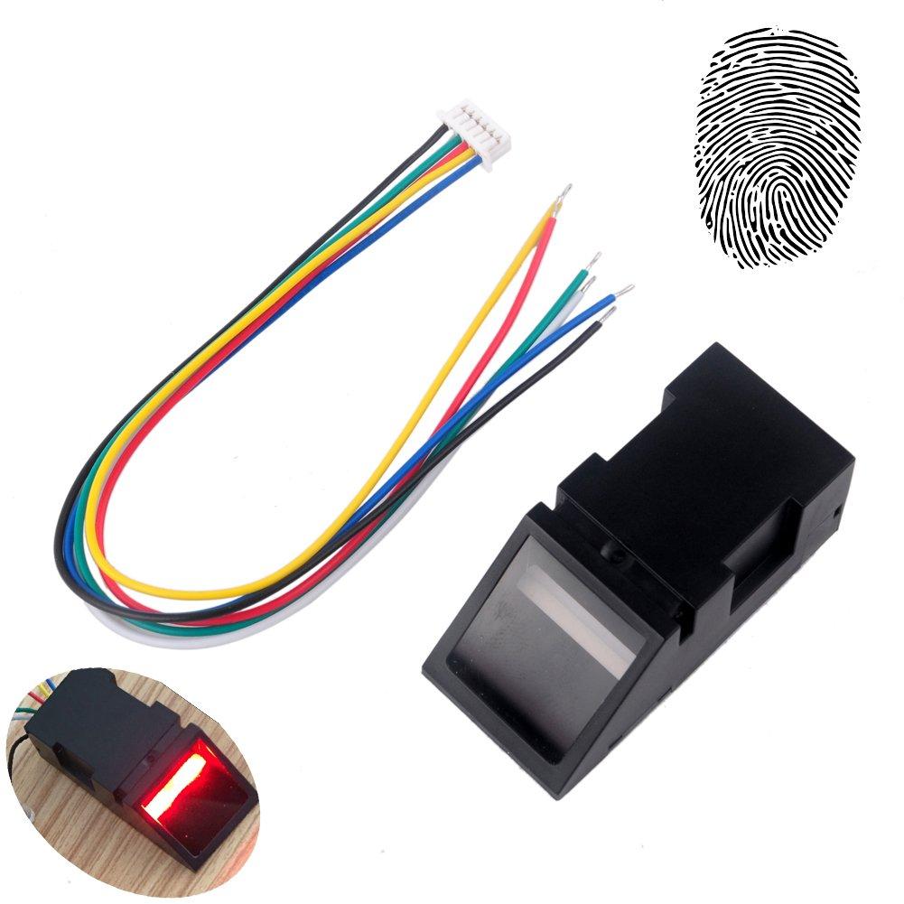 ماژول حسگر خواننده اثر انگشت نوری برای Arduino Mega2560 UNO R3 51 AVR STM32 Red Light DC 3.8-7V