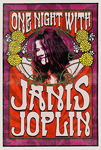 Soft Janis Joplin One Night with Poster Art 13x19 Poster Classic Vintage Old Music