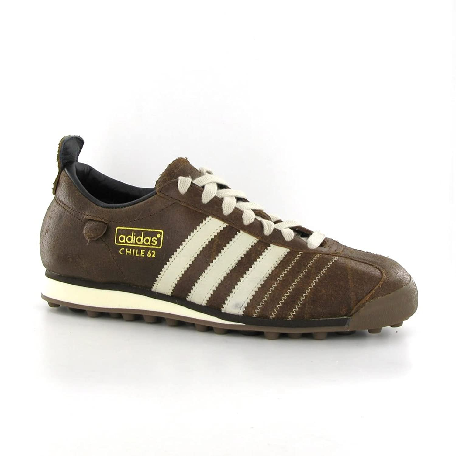 Adidas Chile 62 Coffee Leather Mens Trainers Size 8 UK: Amazon.co.uk: Shoes  & Bags