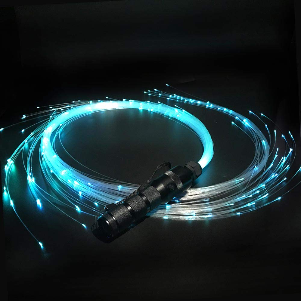 Fiber Optic Whip, LED Fiber Optic Dance Whips - 360° Swivel Pixel Rave Whip Toy - Super Bright More than 40 Color Effect Modes - Light up Dancing, Party, Music Festival, Christmas Carnival by WorSun