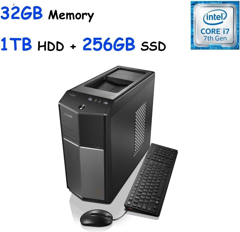 Lenovo IdeaCentre 710 High Performance Gaming Desktop, Intel Quad-Core i7-6700 32GB DDR4, 256GB SSD + 1TB HDD NVIDIA GeForce GTX 960 2GB, Win10 (Certified Refurbished)