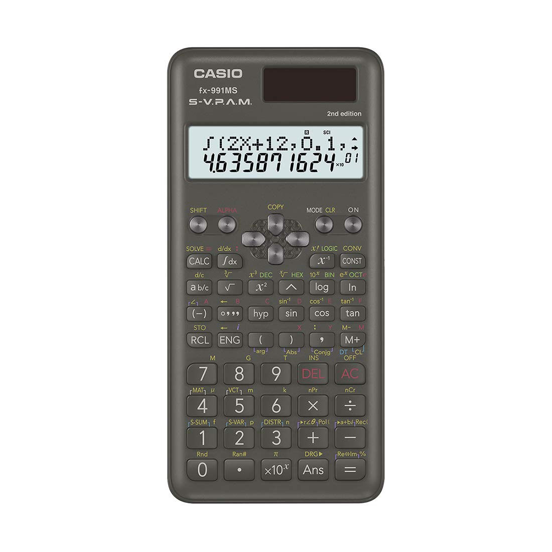 Casio FX-991MS 2nd Gen Non-Programmable Scientific Calculator, 401 Functions and 2-line Display product image