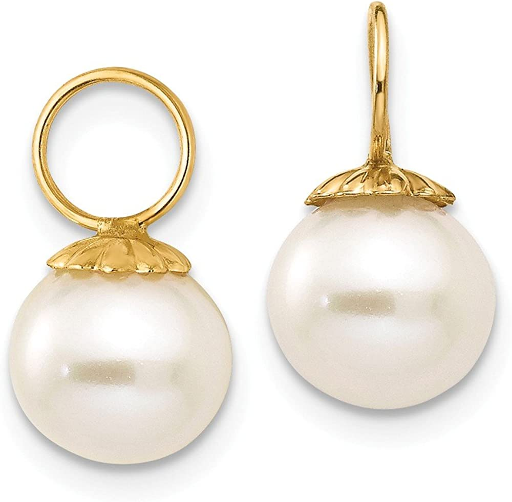 14kt Yellow Gold Madi K FW Cultured Pearl Hoop Enhancers