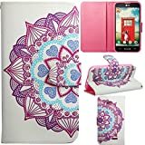 LG G Pro Case LG G Pro Lite D680 Kickstand Case,Tribe-Tiger Violet Design Premium PU Leather Wallet Flip Folio Kickstand Case Cover for LG G Pro Lite D680