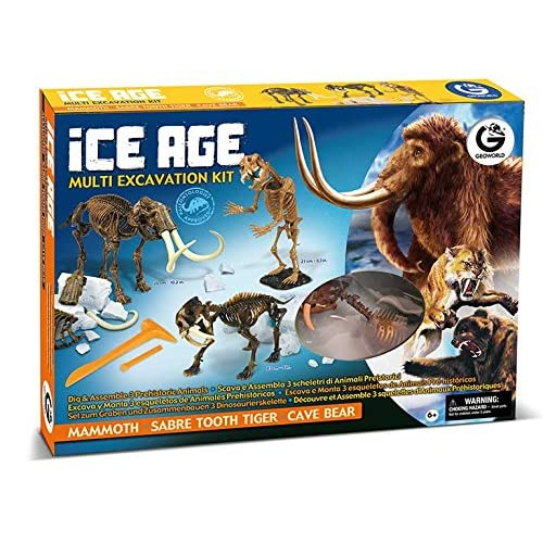 Geoworld Cl470K - Jeu Scientifique - Multi kit d'excavation - Age de glace