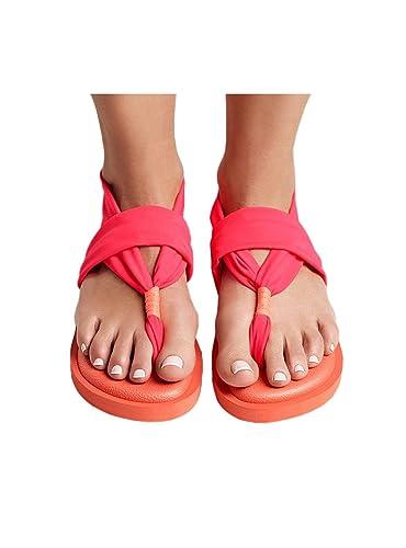 JOY COLORS Damen Zehentrenner, Pink - Pink - Größe: 37 EU
