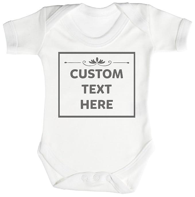 4fdf61ea8 Personalizados Bebé Custom Text Here Camisillas Para Bebé - Body Para Bebé  Niño - Body Para
