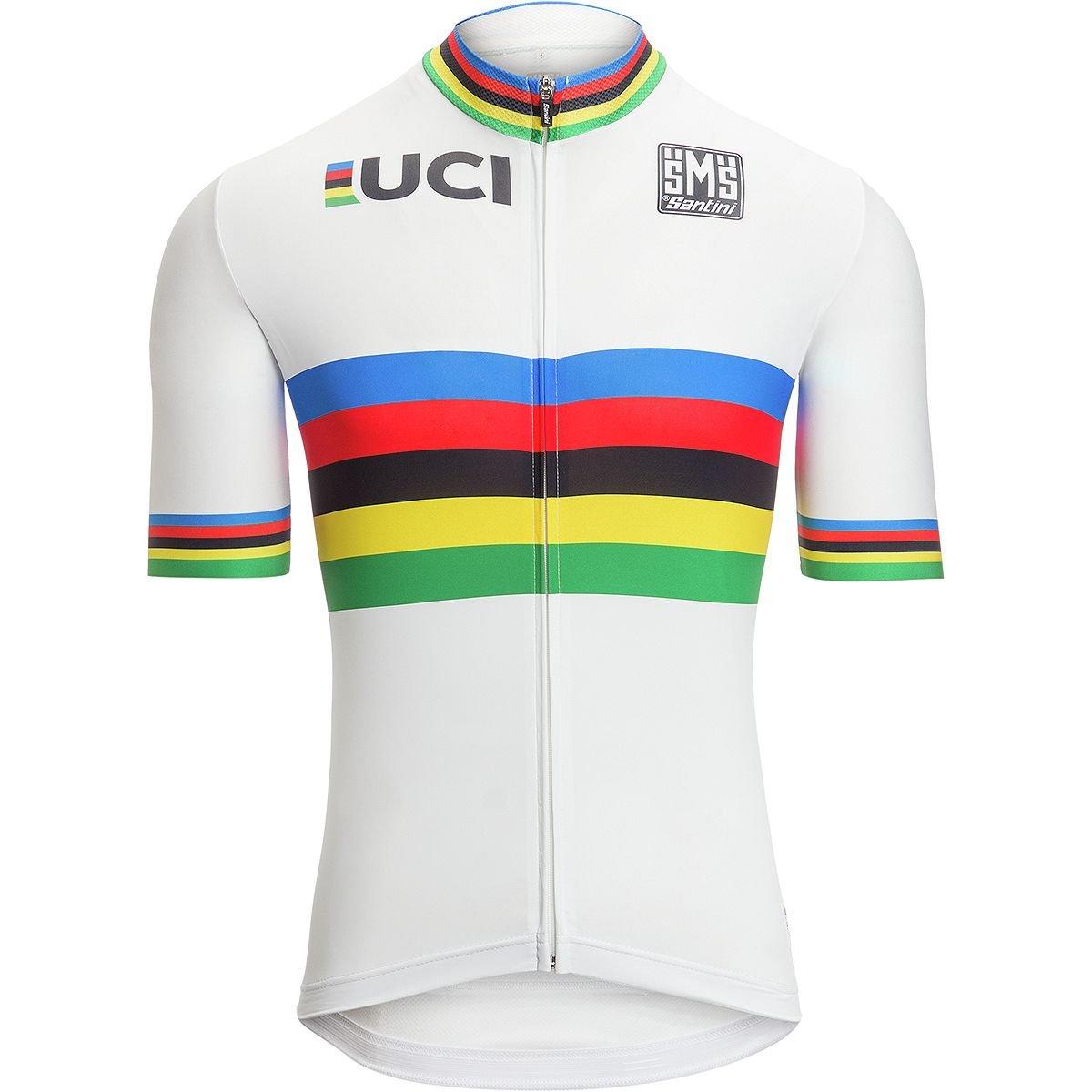 Santini UCI World Champion半袖Jersey – Men 's B079T3CH1N Small|1色 1色 Small