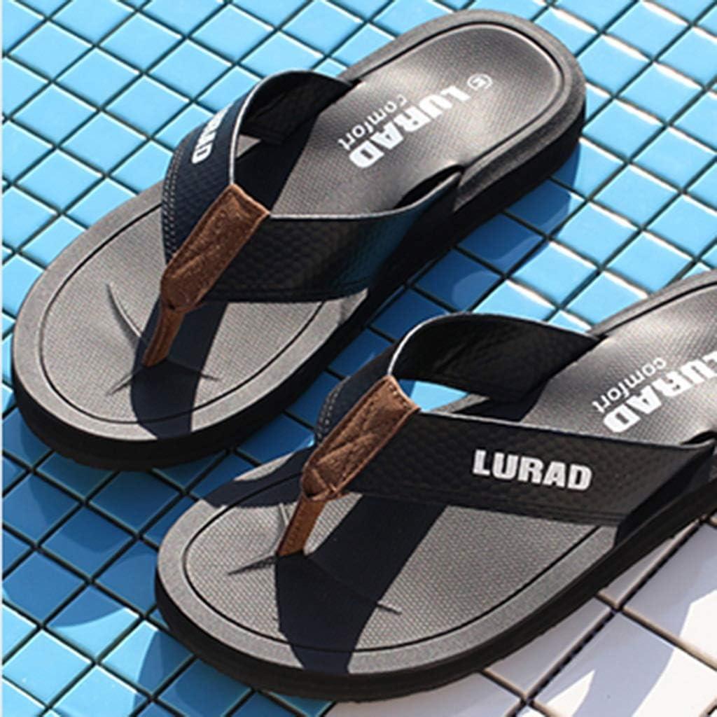 Casual Fashion Flip Flops zomer Men's Flip-flops Slijtvast Anti-slip Daily Sandals Outdoor Beach Flip-flops (Color : Black 43) Black 43